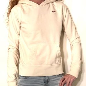 Hollister Ivory colored Hoodie size med